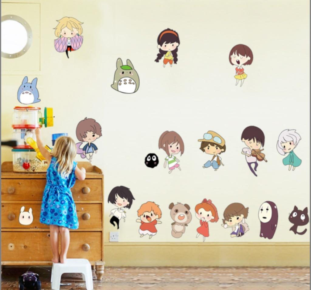 创意幼儿园学校教室 卡通日本动漫小人物 儿童房墙贴
