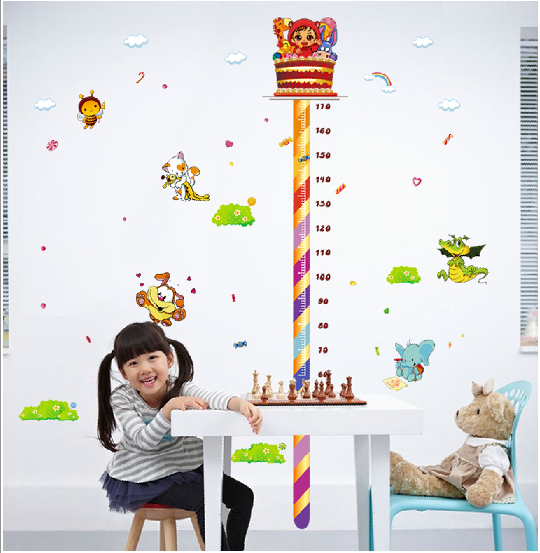 创意幼儿园学校教室 卡通蛋糕棒棒糖身高贴 儿童房