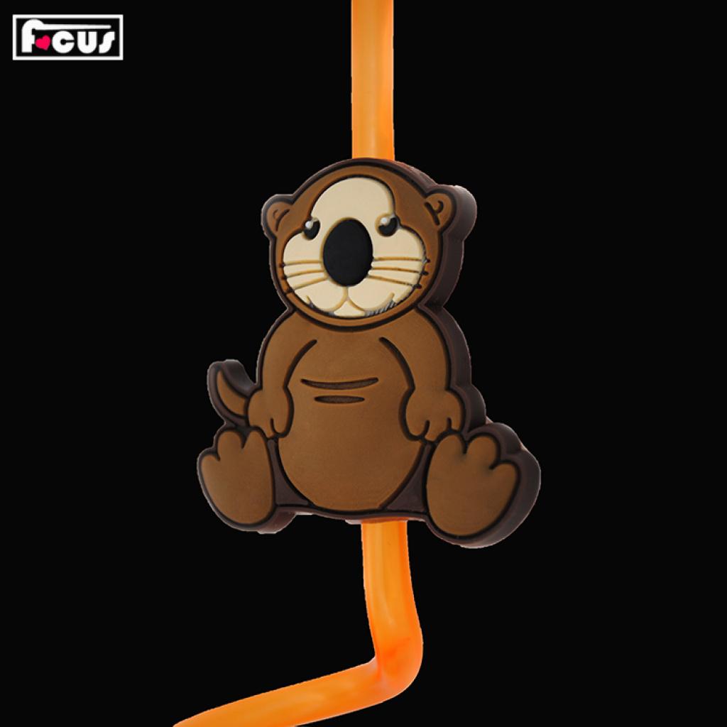 pvc软胶吸管 3d滴胶环保卡通动物造型吸管 广告创意小