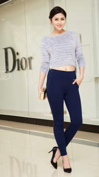 The new spring and summer Leggings nine female pants slim pencil pants female factory direct