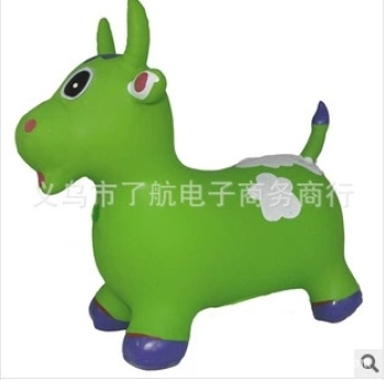 Selling children's toys export quality increase thickening PVC inflatable jumping cow vault jump