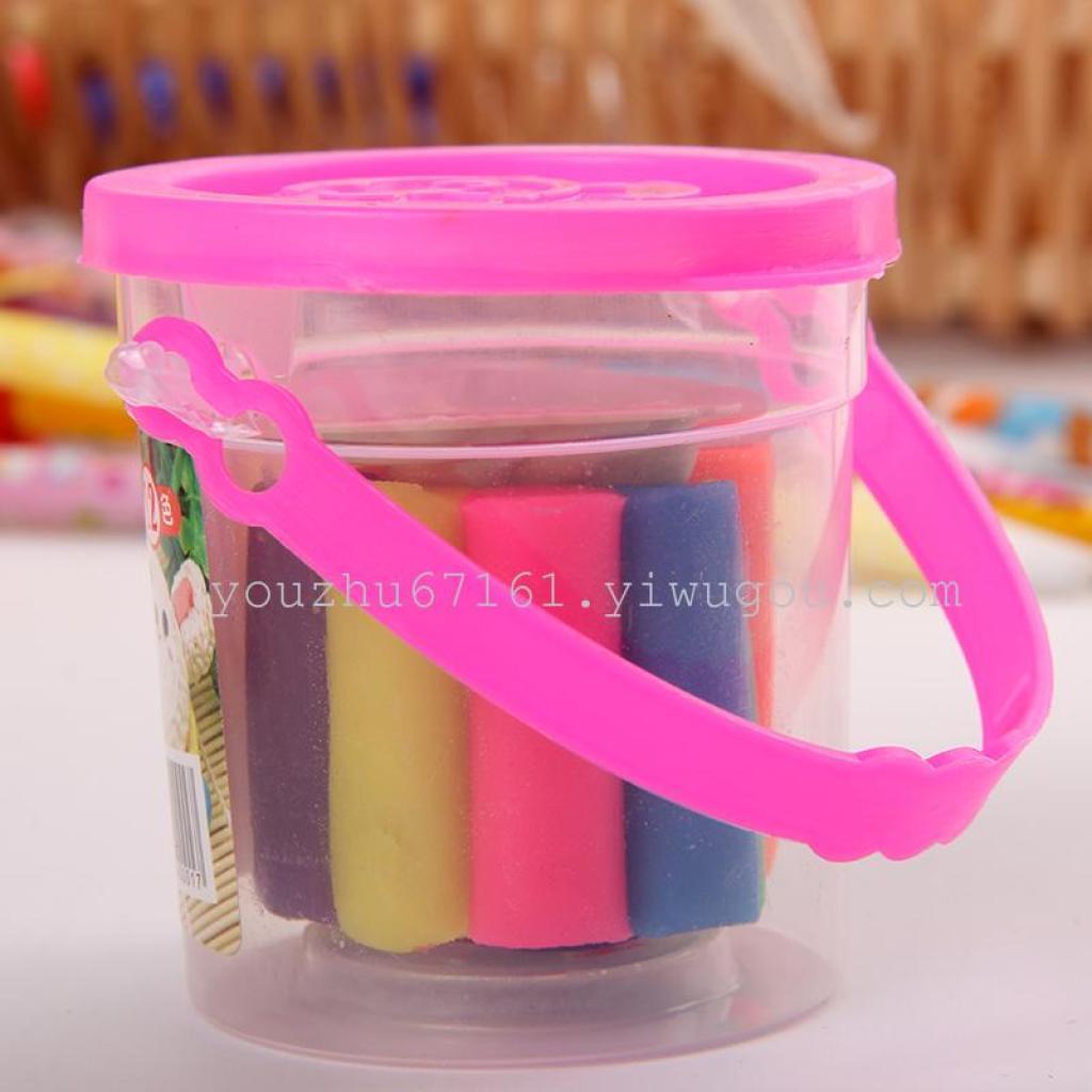 儿童玩具手工彩泥一元橡皮泥小桶小商品b010