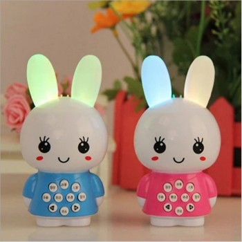 Mini rabbit rabbit small fire story machine learning machine for infant baby rabbit puzzle educational toys