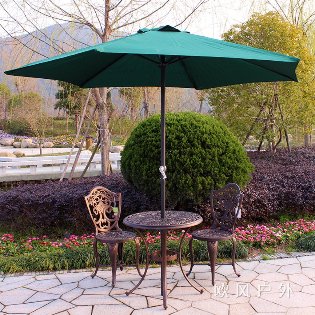 户外铸铝桌椅室外组合铁艺休闲桌椅伞套装咖啡店庭院露台阳台家具