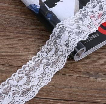 The spot fine warp knitting lace textile quality accessories wholesale flower type elastic lace