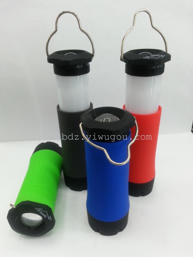 热销伸缩小电筒多功能电筒野营灯手提灯手电筒