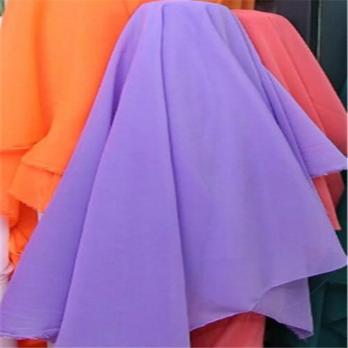 Purple chiffon chiffon cloth fabric plain knitted fabric