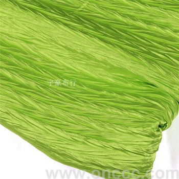 Green Satin crushed cloth factory direct sales