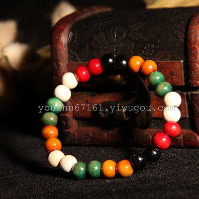 A 8 to Buddha bracelet of colored beads anklets wholesale jewelry K131
