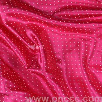 Peach red dot fabric factory direct sales