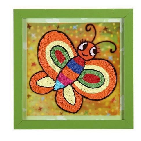 手工贴画儿童艺术彩色纸绳套装创意玩具彩纸-芙蓉天使彩色纸盘画动