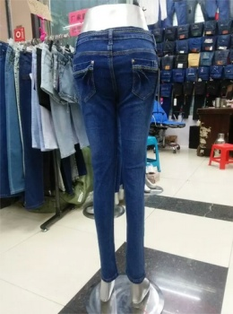 South Korea female high waisted jeans jeans pencil pants new autumn stretch pants