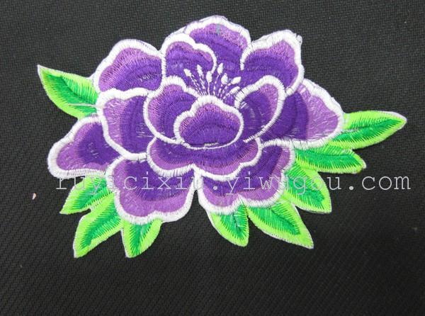电脑刺绣牡丹花
