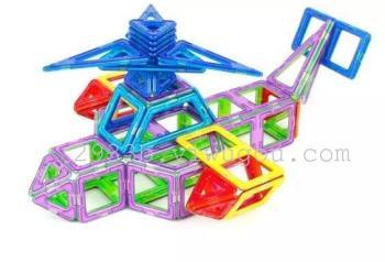 磁力片拼图玩具 37片拼图飞机模型