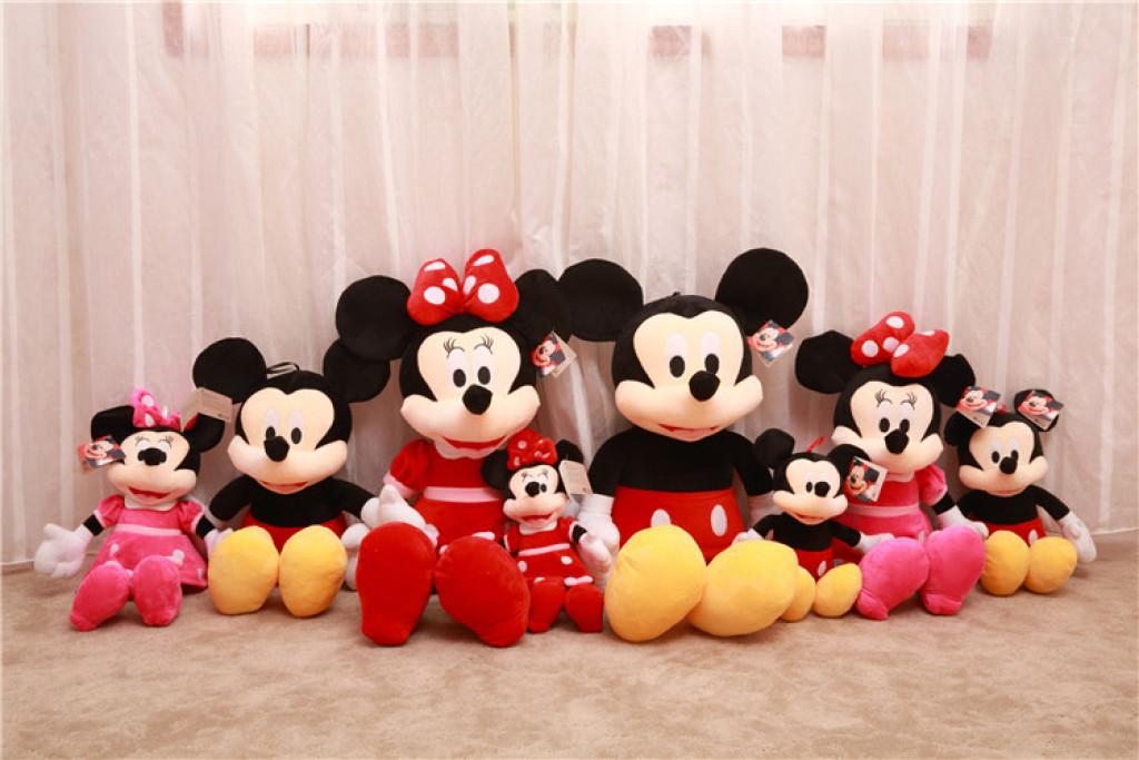 卡通米老鼠 毛绒玩具米奇米妮情侣 儿童节 迪士尼公仔玩偶抱枕