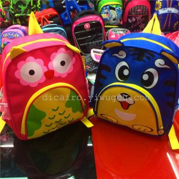 厂家直销幼儿园儿童书包 小动物双肩书包 欢迎来样定做