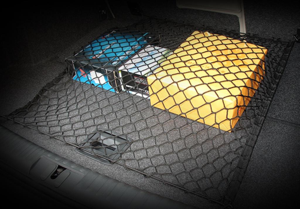 汽车后备箱行李固定网 70*70尾箱网兜 储物隔物平网收纳网