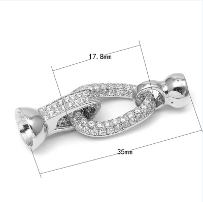 925 sterling silver accessories with zircon type micro droplets with zircon, spring hook fittings