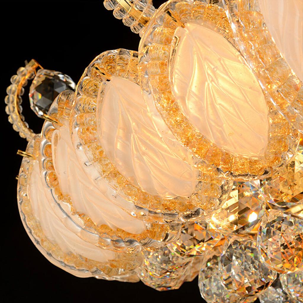 欧式金色水晶灯吊灯楼梯灯l