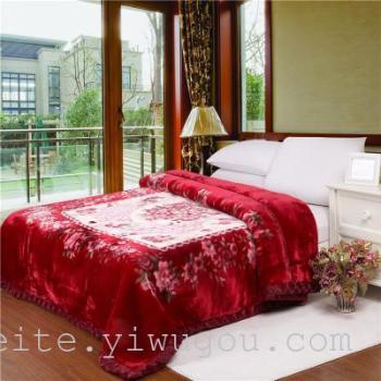 raschel одеяло рельефные двойной толстое одеяло свадьбу поставок оптовой текстильной оптом