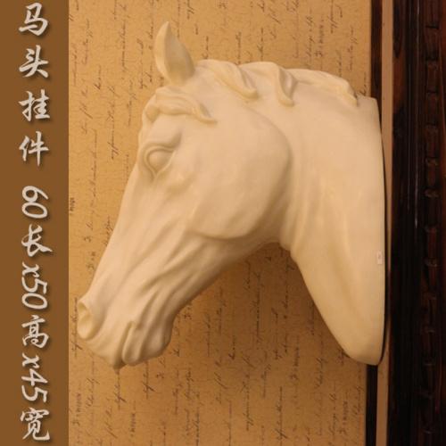 马头墙上挂件欧式创意工艺品家居摆设客厅书房门庁装饰品招财