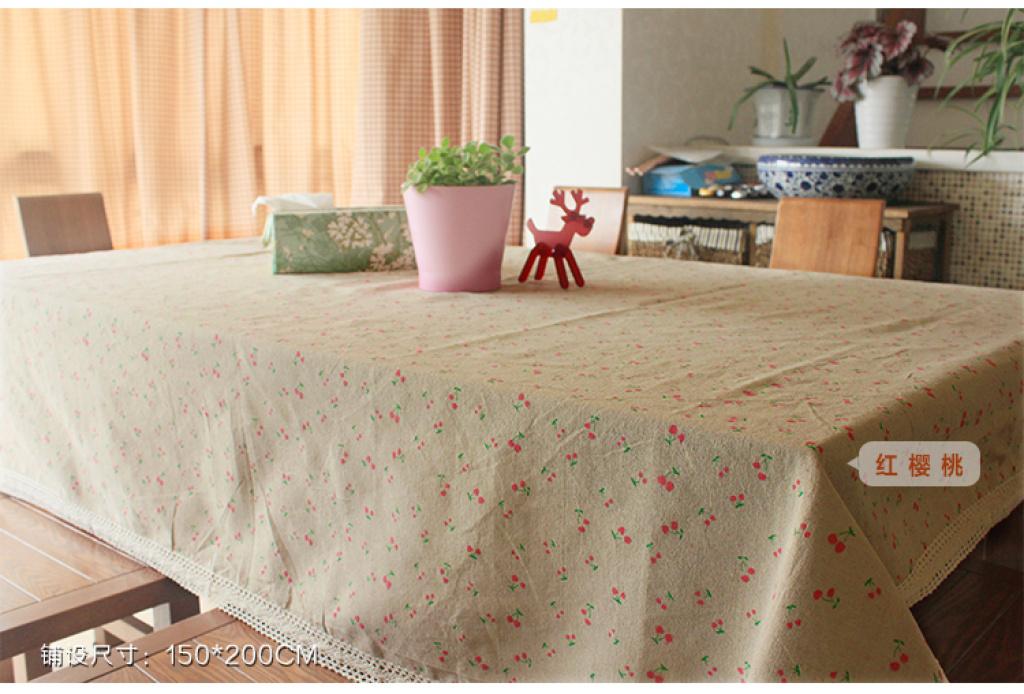 布艺棉麻 雏菊亚麻桌布田园茶几桌布小清新餐桌布长方形台布
