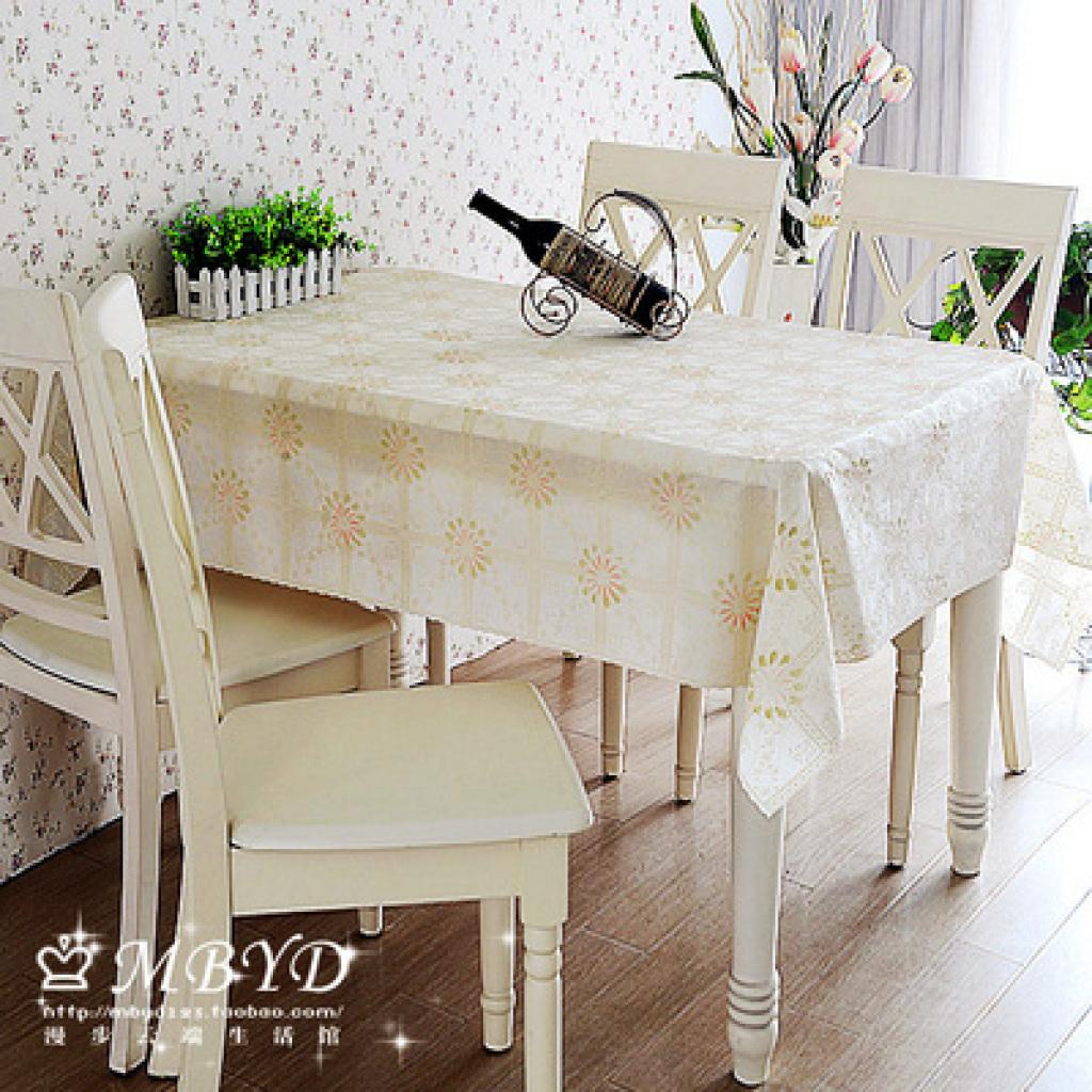 欧式田园防水免洗塑料布艺餐桌布台布pvc防油桌垫