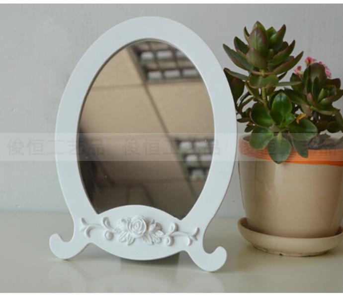 可爱公主风台式化妆镜 简约随身大号欧式镜子梳妆镜子