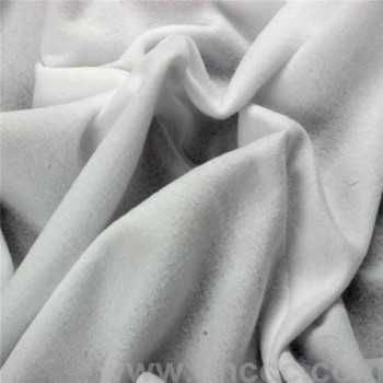White knitted flannelette fabric durable crease