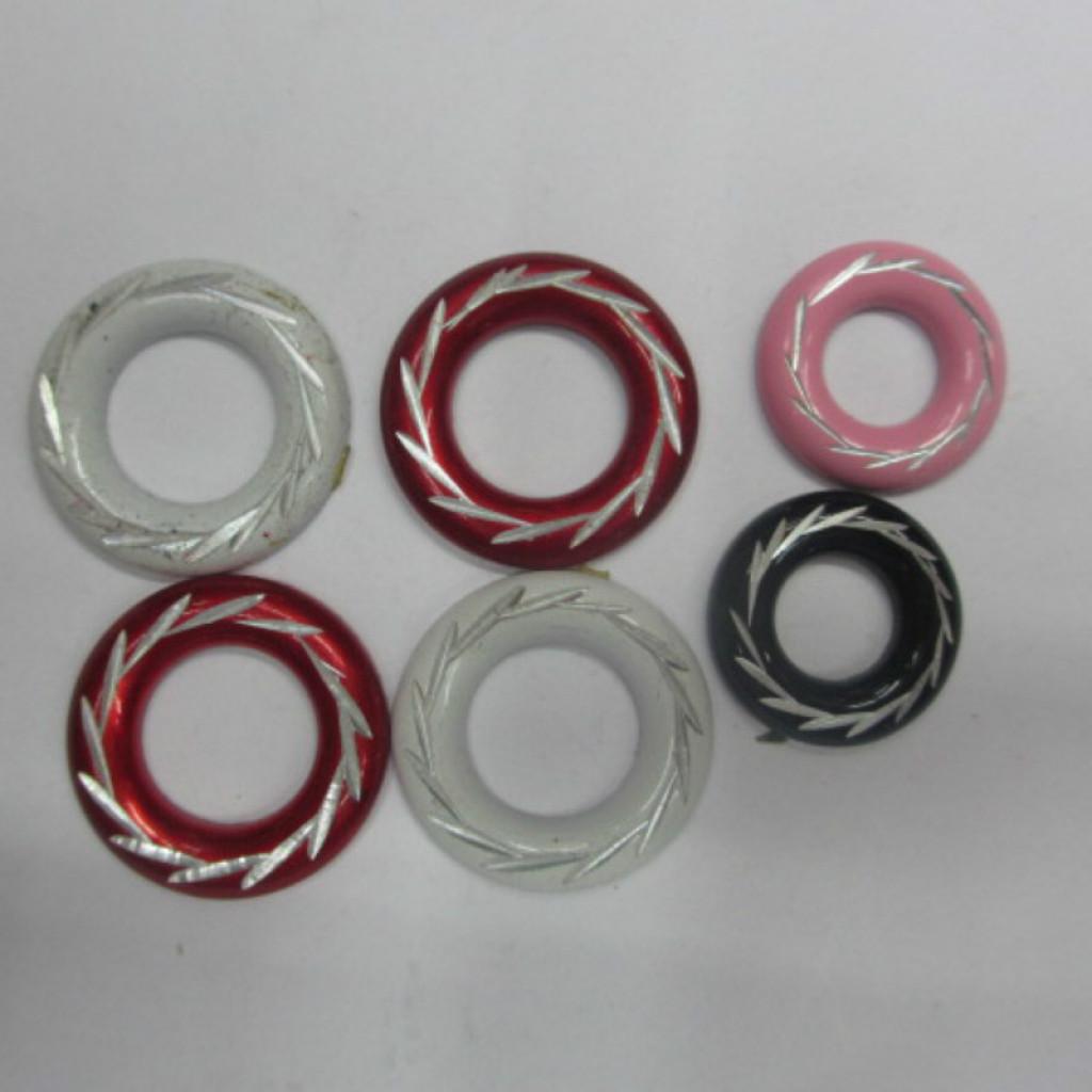 雕花镶白圆圈铝烫片 仿进口烫片 服装辅料