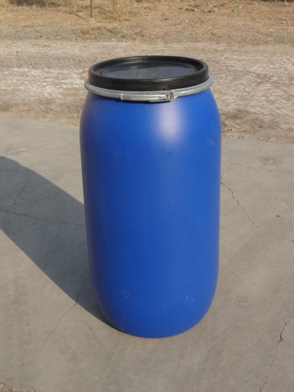 大口兰色160升法兰塑料桶生产厂家首选新利品牌
