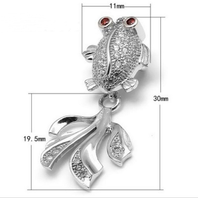 925 sterling silver accessories with zircon silver micro type pendant pendant accessories goldfish