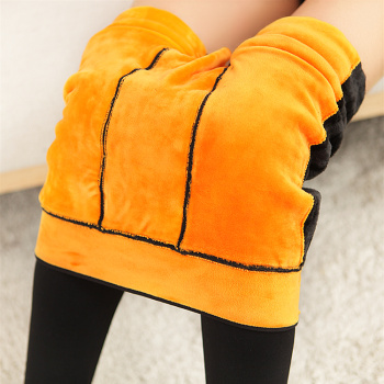 The Golden Flower winter warm pants waist knee nylon pants with a velvet warm house one thick waisted Leggings