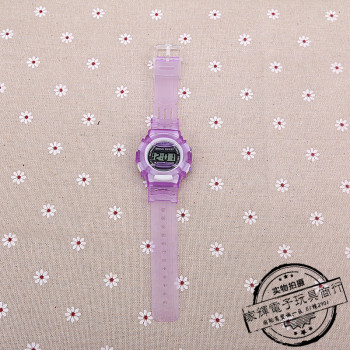 Electronic watch sport transparent strap watch waterproof electronic toys children table