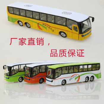 The bus car model of children's toys Alloy voice sound back of the car