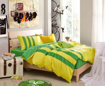 The explosion of plain cotton twill sportswear four piece stripe bedding Adidas series