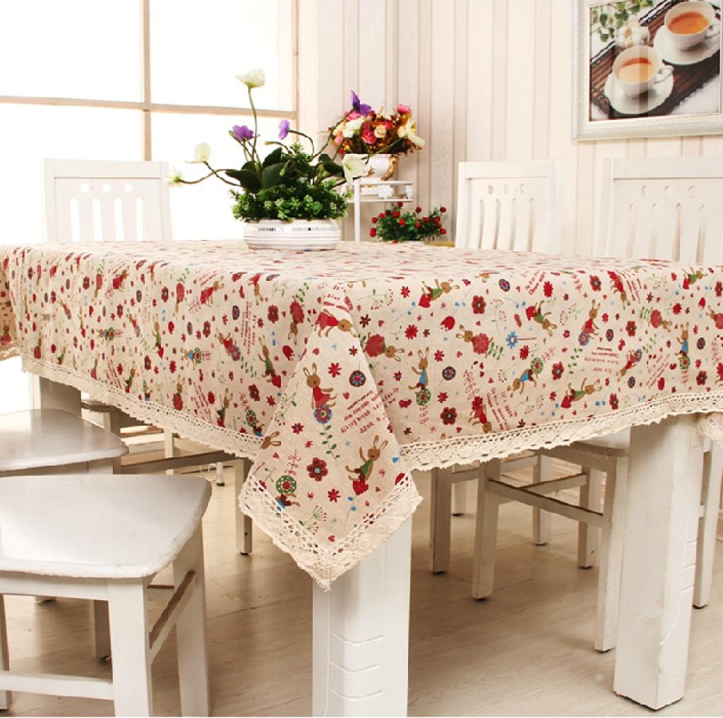 布艺欧式田园桌布茶几布台布刺绣