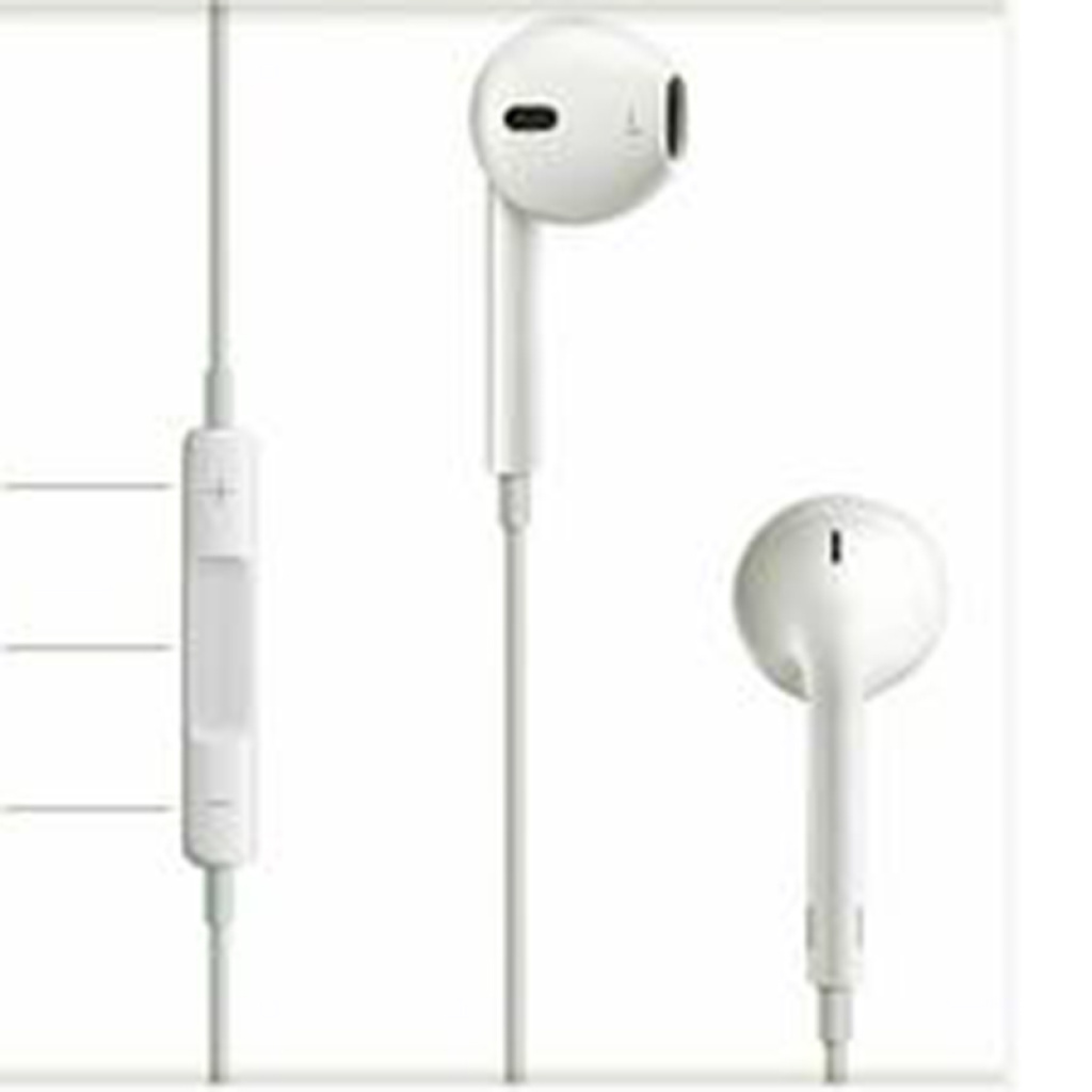苹果5代线控耳机 白色 耳塞式有线手机耳机