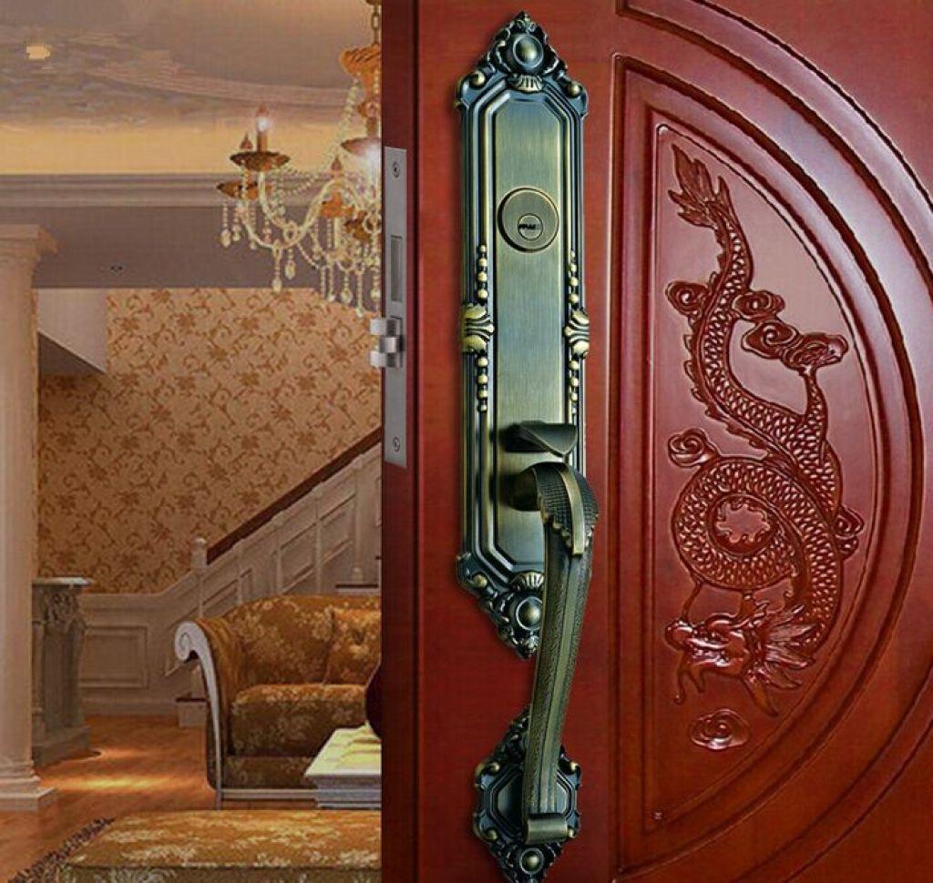 歐式別墅豪華大門鎖 防盜木門