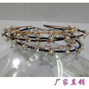 ファッションヘアフープバックルの韓国の高度に洗練されたダイヤモンドヘッド・フープ・卸