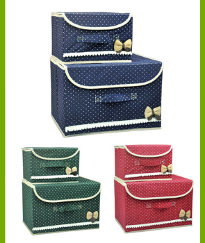 Two pieces of casing with a cover box thick woven into the box, the box of underwear, toys, baby clothes, butterfly box