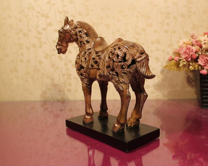 欧式树脂工艺品 马摆件 家居装饰品