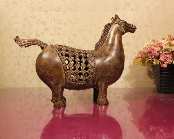欧式树脂工艺小肥马摆件 家居装饰品