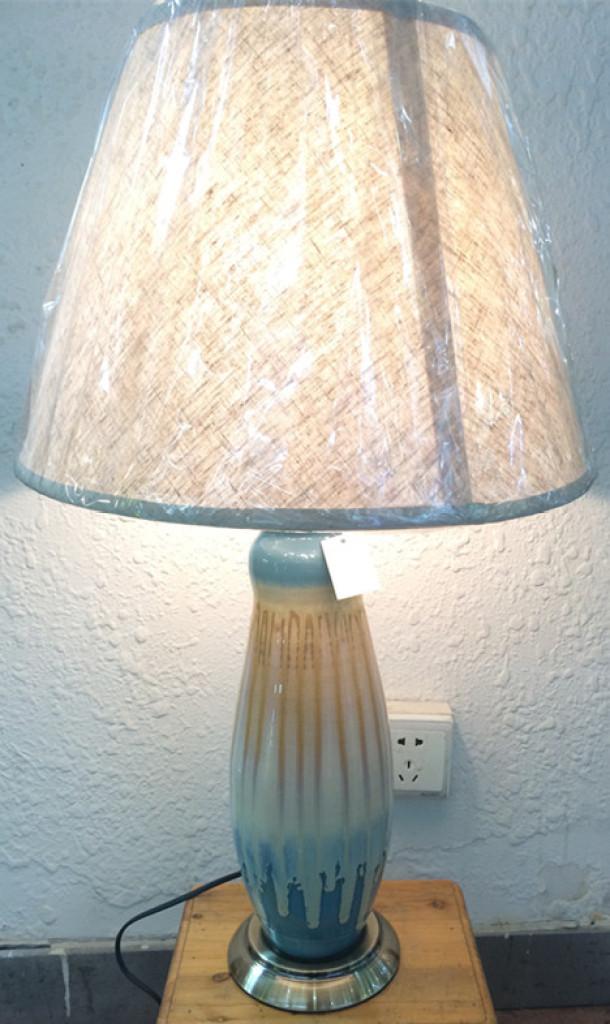 欧式摆件 现代时尚创意客厅陶瓷摆盘花瓶台灯装饰三