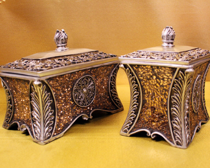 欧式古典树脂工艺首饰盒摆件 创意家居装饰品