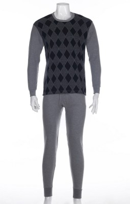 Classic fashion western songbirds fall clothing men's cotton Jacquard suit thermal underwear