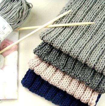 高端纯手工编织羊毛线围巾简约保暖男士