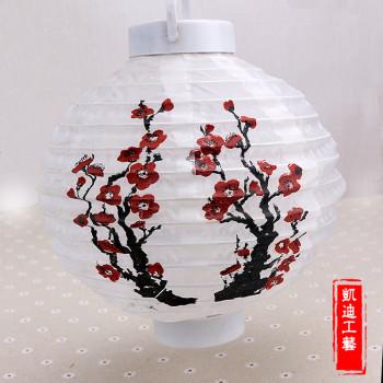 Decorative lanterns plum paper lanterns lantern lantern festival decoration lamp battery LED