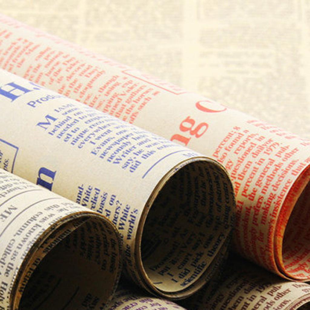 复古怀旧英文字报纸 礼品鲜花包装纸 包花材料牛皮纸图片
