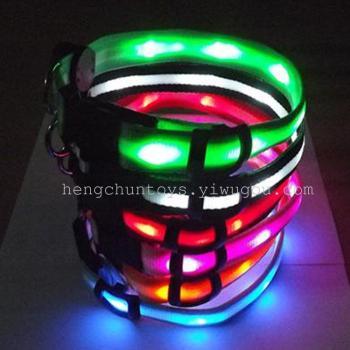 LED狗圈 闪光项圈 发光狗拉带  发光宠物用品